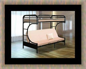 Twin futon bunk bed frame for Sale in Alexandria, VA