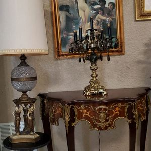 Beautiful Antique Candelabra w Murano crystals for Sale in Cape Coral, FL