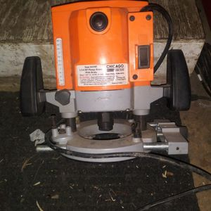 One And Three Quarter Horsepower Plunge Router With Brake Chicago Electric Power Tools for Sale in Macedonia, OH