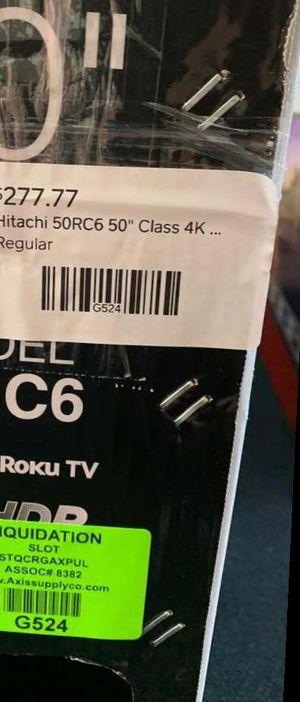 "Brand New Hitachi ROKU TV 50"" open box w/ warranty D50 for Sale in Houston, TX"