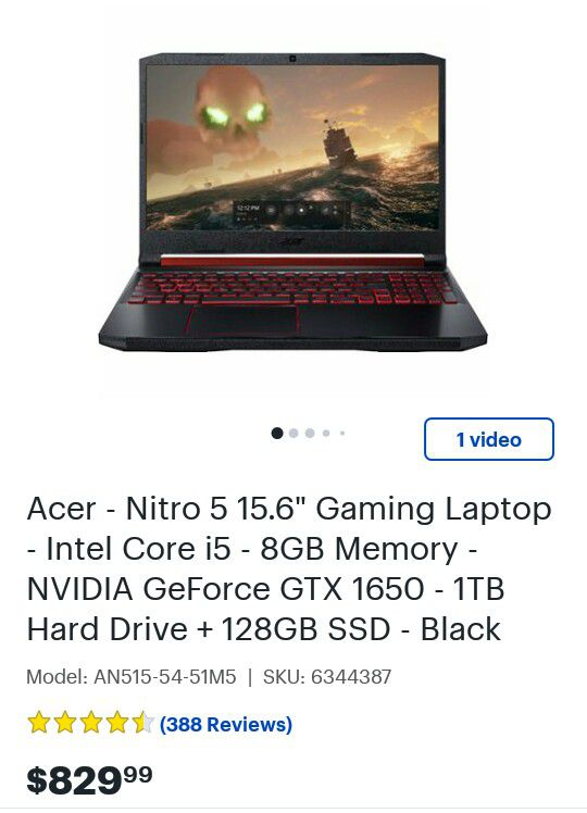 Brand New Gaming Laptop