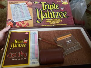 Vintage Triple yahtzee by lowe no. 928 for Sale in Stow, OH