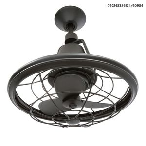 H.D.Coll. Bentley II 18 in. Indoor/Outdoor Natural Iron Oscillating Ceiling Fan for Sale in Dallas, TX