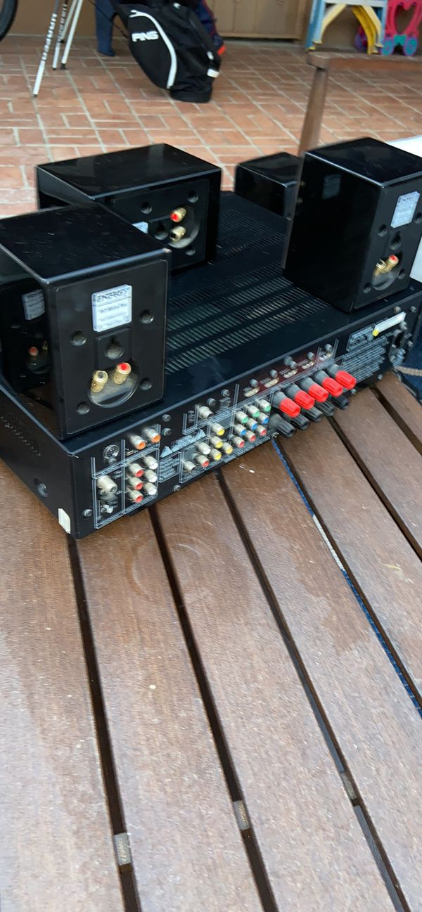 For sale marantz small footprint receiver 5.1 and energy micro surround system with subwoofer (5.1)