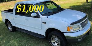 $1,OOO URGENT For sale 2002 Ford F-150 XLT Super Crew Cab 4-Door Runs and drives great! Clean title for Sale in Billings, MT