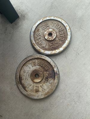 25 lb Standard Weights for Sale in Azusa, CA