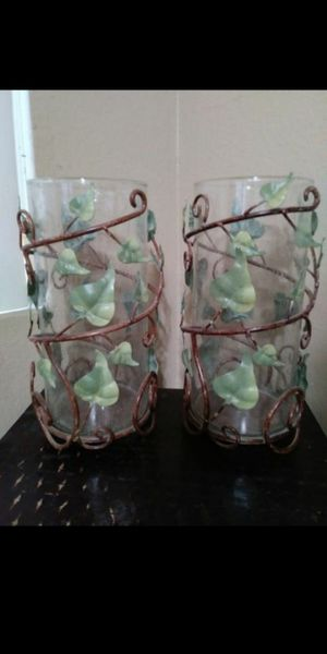 Glass and metal decor $10 for both for Sale in Mesa, AZ