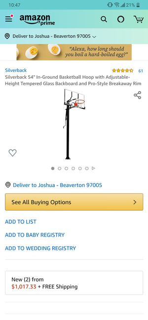 """SILVERBACK SBX 54"""" IN-GROUND BASKETBALL SYSTEM WITH ADJUSTABLE-HEIGHT TEMPERED GLASS BACKBOARD AND PRO-STYLE BREAKAWAY RIM for Sale in Las Vegas, NV"""