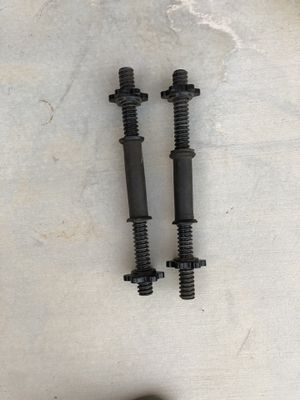 Dumbell curl bars with star locks for Sale in Victorville, CA