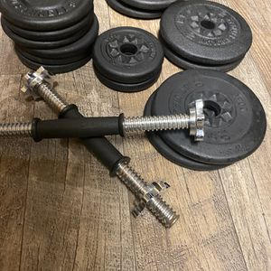 dumbbell weigth set for Sale in San Jose, CA
