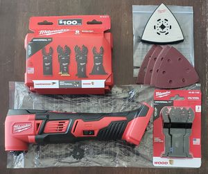 Milwaukee M18 Oscillating Multi Tool with Additional Blades and Sand paper (New) for Sale in Joliet, IL