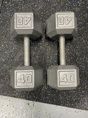 40 lb Cast Hex Dumbbell for Sale in Long Beach, CA