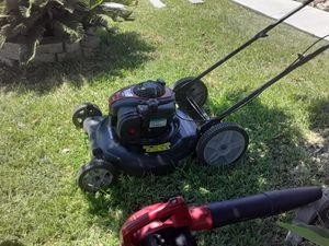 Barely Used Leaf blower and Lawn mower for Sale in San Antonio, TX