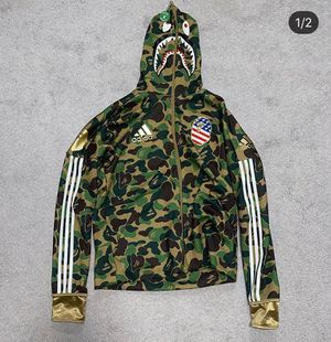 NEW AUTHENTIC Bape Adidas Hoodie Sz Large for Sale in West Columbia, SC