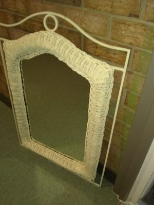 Wicker and metal framed mirror Pier one for Sale in Alexandria, VA