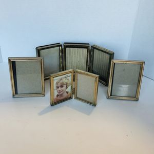 Lot of 4 Vintage Assorted Brass Art Deco Standing Hinged Picture Frames for Sale in San Diego, CA