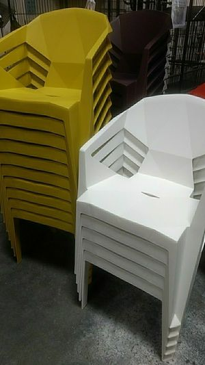 New in box $10 each stackable outdoor patio deck party chair multi colors available for Sale in Whittier, CA