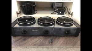 Triple crock pot for Sale in Gladstone, OR