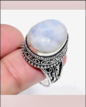 Rainbow Moonstone on 925 Sterling Silver Ring. Size 8 for Sale in Las Vegas, NV