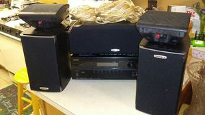 Onkyo surround sound receiver polkaudio speakers lot for Sale in San Diego, CA