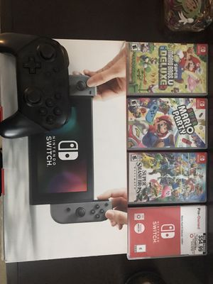 Nintendo Switch Bundle*****Mario Kart Mario party Smash and more for Sale in Buford, GA