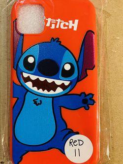 Brand new cool iphone 11 REGULAR 6.1 case cover rubber silicone RED Lilo And Stitch Hawaiian Disneyland disney love fundas girls womens pretty for Sale in San Bernardino,  CA