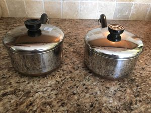 Revereware sauce pans with lids, stainless steel copper bottoms for Sale in Sarasota, FL