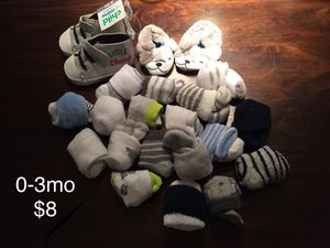 0-3mo Baby Boy Clothing Socks Shoes for Sale in Duvall, WA