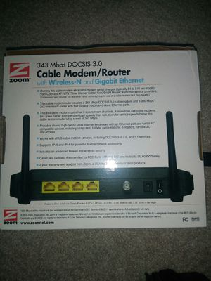 Docsis 3.0 Zoom Modem and router for Sale in Normal, IL