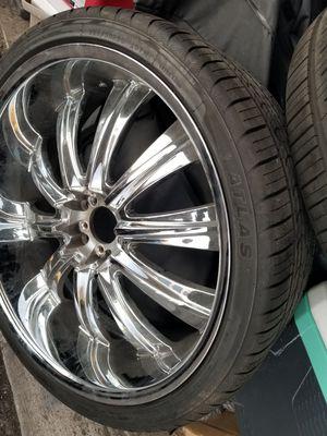 New chrome Rims & tires for Sale in Las Vegas, NV