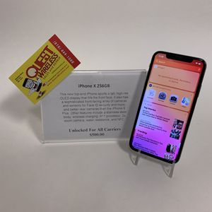iPhone X 256GB Unlocked for Sale in Mission Hills, KS