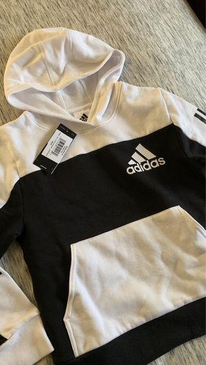 Adidas Black and White Sweatshirt Hoodie Size 8 Boys for Sale in Tacoma, WA