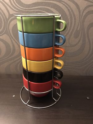 Fall stacking mugs. Set of 6 for Sale in Hoffman Estates, IL