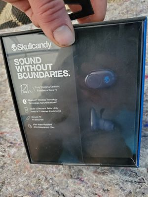 SKULLCANDY PUSH Truely wireless earbuds (Brand new in Original Packaging) for Sale in Kent, WA