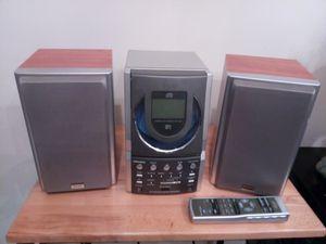 TEAC AM/FM RADIO CD PLAYER MICRO HI-FI SYSTEM EX-M5 MP3 CD/MP3/CD-R/CD-RW COMPATIBLE/ EAR PHONE SOCKET and AUX. SOCKET for Sale in Warren, MI