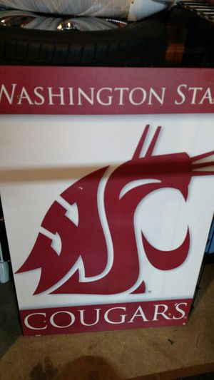 WSU Cougar poster/sign - Large for Sale in Lakewood, WA