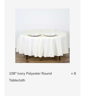 Ivory tablecloths for Sale in Costa Mesa, CA