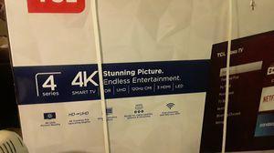 "Brand New 65"" TCL 4k Smart TV W/ Roku Tv In Box for Sale in Seattle, WA"