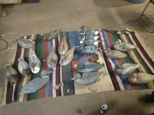 Vintage duck decoys. From various companies. Some are weighted. One is a vintage Cork. Buy individually or make offer for lot for Sale in Tacoma, WA
