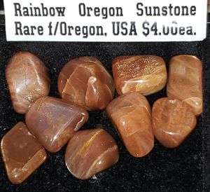 1pc Rare Oregon Rainbow Sunstone Tumbled & Polished Healing Crystal Gemstones from Oregon, USA for Sale in Boca Raton, FL
