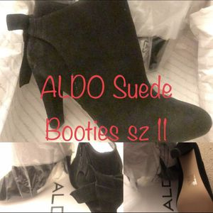 New ALDO Black Suede Boots • Designer Booties • Size 10 / 11 for Sale in Washington, DC