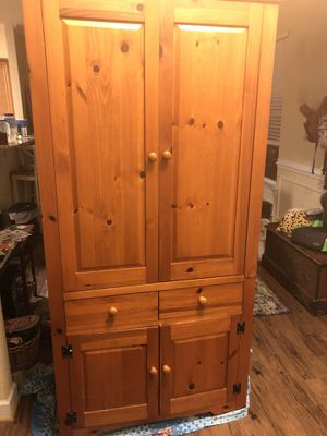 Solid wood armoire/ TV stand for Sale in Elizabeth City, NC