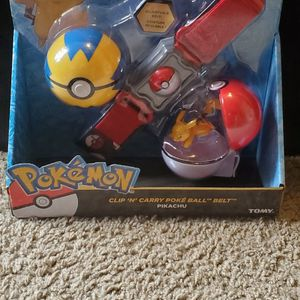 Pokemon Clip And Carry Poke Ball Belt Pikachu for Sale in Fayetteville, AR