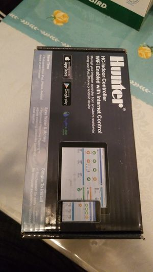 Hunter HC-600i Touch Screen Smart WiFi Enabled 6 Zone Sprinkler Controller for Sale in Fullerton, CA
