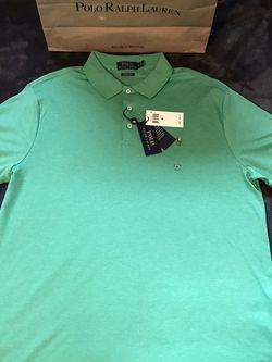 Ralph Lauren 🇺🇸 Polo 🐎 Solid Green Collar Shirt Sz XL for Sale in Dallas,  TX