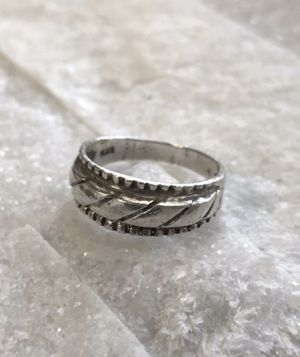 Sterling Silver Etched Vintage Wedding Band Ring size 6 for Sale in Raleigh, NC
