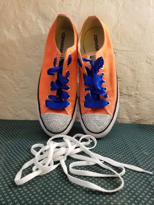 Converse Hyper Orange Mens Shoes Size 9 for Sale in St. Louis, MO