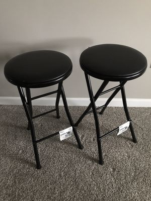 Set of 2 Black Bar Stools for Sale in Coraopolis, PA