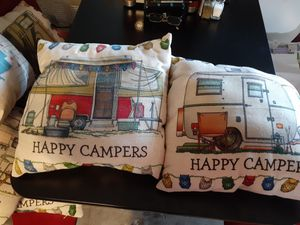 6 cute camper pillows $30 trade 4 equal value for Sale in Las Vegas, NV
