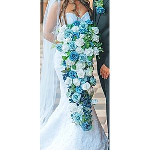 Beautiful Bridal Bouquet - Artificial Dusty Blue for Sale in Haines City, FL